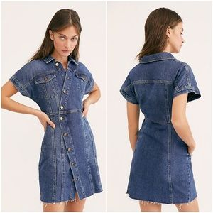Free People The City Denim Minidress